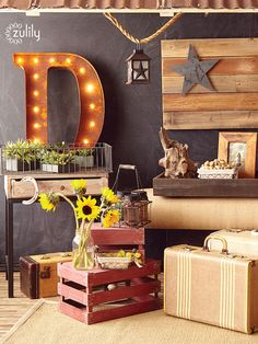 Discover hundreds of home decor items at prices 70% off retail! At zulily you'll find something special for every room in your home! Home Decor Items, Diy Home Decor, Room Decor, Country Decor, Rustic Decor, Wood Flag, Interior Exterior, Wood Crates, Decoration