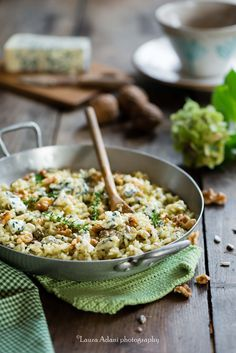 risotto with blue cheese and walnuts