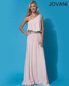 Long one shoulder jersey gown 72705
