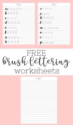 Brush Lettering and Beyond: Lettering Worksheets and Practice Routine ⋆ The Petite Planner - Brush Lettering and Beyond: Lettering Worksheets and Practice Routine ⋆ The Petite Planner Free Brush Lettering Worksheets Brush Lettering Worksheet, Hand Lettering Practice, Hand Lettering Alphabet, Caligraphy Practice Sheets, Hand Lettering Fonts Free, Calligraphy Practice, Hand Lettering For Beginners, Hand Lettering Tutorial, Calligraphy For Beginners Worksheets