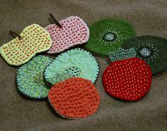 Sashiko stitch fruits
