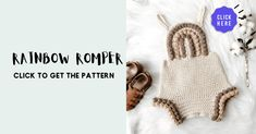 Crochet Baby Clothes Boy, Baby Patterns, Knit Crochet, Onesies, Baby Boy, Rompers, Rainbow, Knitting, Kids