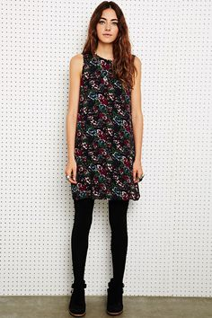 Staring at Stars Shift Dress in Floral Print at Urban Outfitters