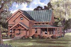 Log Style House Plan - 4 Beds 2.5 Baths 2453 Sq/Ft Plan #17-463 Exterior - Front Elevation - Houseplans.com