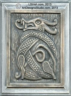 Wood Carving Celtic Dragon 1 tutorial for beginners