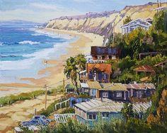 "Crystal Cove painting by Liliana Simanton Fine Art Oil Paintings ""Crystal Cove, Laguna Beach"""