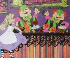 Halloween Alice in Wonderland 2 page layout.