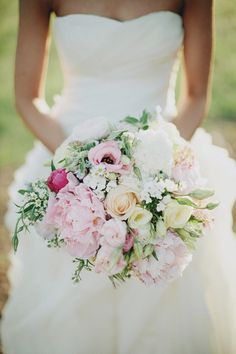 lovely soft coloured bouquet