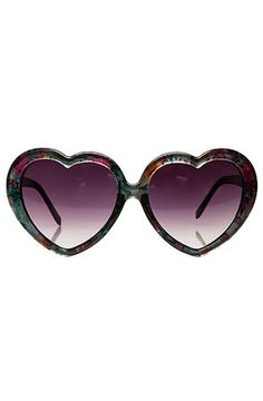 The Floral Heart Sunglasses by *MKL Accessories