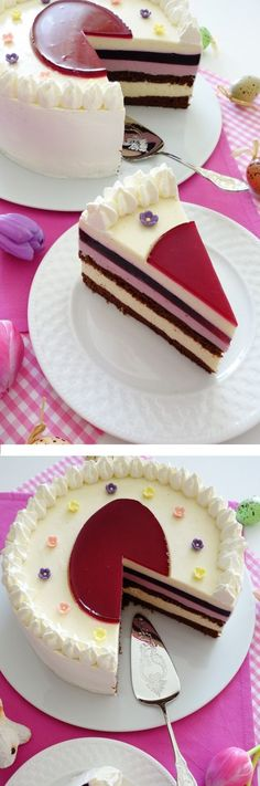 """1 IRRESISTIBLE """"TORTA DE PASCUA"""", Si te gusta dinos HOLA y dale a Me Gusta MIREN… Just Desserts, Delicious Desserts, Yummy Food, Sweet Recipes, Cake Recipes, Snack Recipes, Cakes And More, Cookie Decorating, Amazing Cakes"""