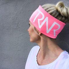Pink & white pannebånd / panneband / headband / pannband