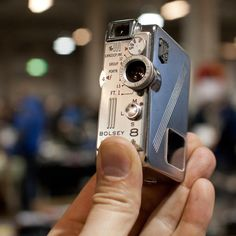 Jacques Bogopolsky (known as Jacques Bolsey founded the company Bolex in 1921). Then this is a mini Bolex 8 mm.