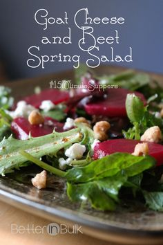 Goat Cheese and Beet Spring Salad #15MinuteSuppers