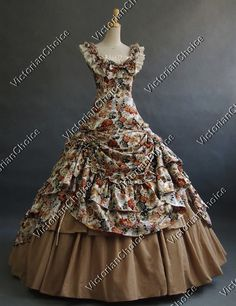 Southern Belle Period Dress Prom Ball Gown Reenactment Theatre Clothing