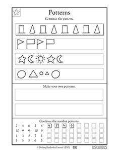 geometric patterns what comes next math madness pattern worksheet 1st grade worksheets. Black Bedroom Furniture Sets. Home Design Ideas