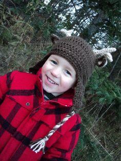 Little Buck Earflap Hat by PortalElements, $28.00