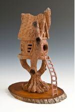 "Cottonwood Bark Carving ""TREE TOP BIRDHOUSE"""