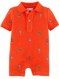 NWT Ralph Lauren Polo Baby Boys Shiffli Embroidered Globe Shortall Romper #RalphLauren #DressyEveryday