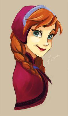 Anna Frozen art.