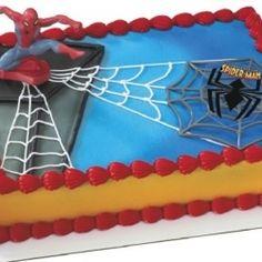 boys birthday cake idea for my little spider man