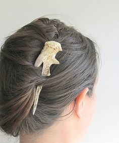 Deer Antler Carved Hair Fork Statement by JCMcCairnsCottage, $72.00