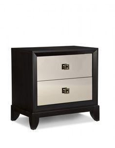 Oasis Bronze Mirrored Night Stand - 2 Drawers     Reg Price: $ 589.00     $353.40     Guaranteed Low Price