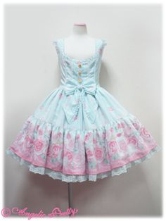 { Angelic Pretty } Romantic Rose Letter tiered JSK in mint