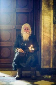 "julietjournal: ""Elder Dobri Dobrev is quite famous in the Orthodox world, but especially in his native country. Now around 100 years old, Dobri lived a normal life until a few decades ago when he. Native Country, Orthodox Christianity, Lightning Strikes, People Of The World, Eastern Europe, Belle Photo, Saints, Illustration, Beautiful"