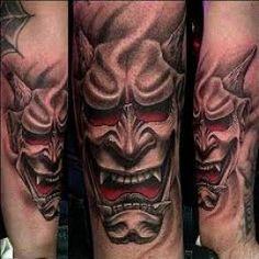 Hannya mask tattoo designs