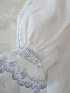 Pretty blue swiss embroidery - Google Image