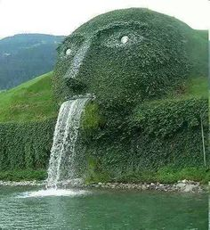 THIS ENORMOUS FOUNTAIN STANDS IN FRONT OF SWAROVSKI KRISTALLWELTEN MUSEUM, WATTENS, AUSTRIA