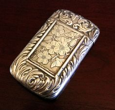 Aesthetic Howard Sterling Silver Match Safe Box Victorian Antique Circa 1888 | eBay