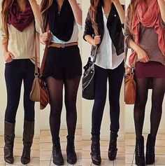 Leggings outfit. I'd wear this but can't pull that off