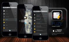 Fuze iOS E-Mail client app design Created using Photoshop CC and Illustrator CC By Stracci7