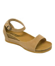 Another great find on #zulily! Taupe Ankle-Strap Sandal by Shoes of Soul #zulilyfinds