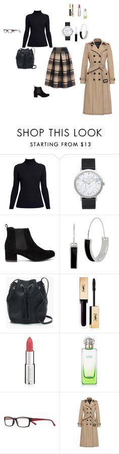 """""""Зима"""" by ps-vika on Polyvore featuring Rumour London, Elwood, Kenneth Cole, J.Crew, Givenchy, Hermès, Magnif Eyes and Burberry"""
