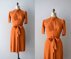 1930s dress / rayon 30s dress / The St Louis Shag by DearGolden, $245.00
