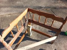 Corner Headboard Diy a corner bench from head and foot boards. ~ i might try this with