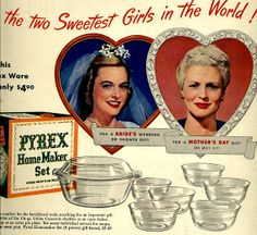 vintage 1947 sweetest girls advertisement pyrex by FrenchFrouFrou, $12.95