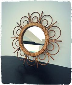Miroir Rotin Vintage via OOMPA. Click on the image to see more!