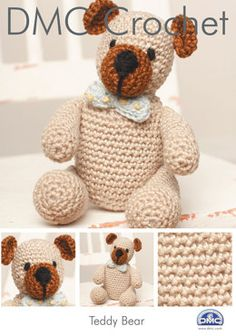 Teddy Bear in DMC Petra Crochet Cotton Perle No. 3.  I like how the muzzle & ears are the darker color; it's usually the opposite.