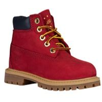 "Timberland 6"" Premium Waterproof Boots - Boys' Toddler - Red / Tan"