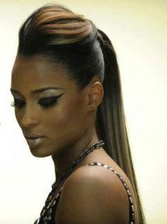 Best Hairstyles Black Hair Simple 39 Ideas Black Women Hairstyles, Hairstyles With Bangs, Trendy Hairstyles, Straight Hairstyles, Wedding Hairstyles, Hairstyle Ideas, Hair Ideas, Funky Hairstyles For Long Hair, Ponytail Hairstyles