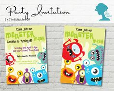 Digital Party Printable: Editable Monster Mash Party Invitation $10.00AUD by The Digi Dame on Etsy digidame.etsy.com