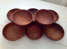 RARE Kay Bojesen Turned Teak Salad Bowls // Set by ThisIsMyBrain