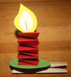 candle with clothespin 15 Christmas Art For Kids, Christmas Activities For Kids, Christmas Candle, Sunday School Crafts For Kids, Bible Crafts For Kids, Candlestick Crafts, Christmas Tree Festival, Construction Paper Crafts, Candle Art