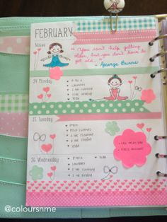BirthdayWeek#Kikki-K#Mint&GoldPlanner#Large#BallerinaGirls#Inspired