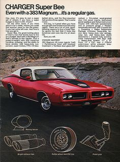 1971 Dodge Charger Super Bee its not just the cars its the ad as well .the text the headline the images.a bygone era Dodge Charger Super Bee, 1971 Dodge Charger, Mopar, Chevrolet Camaro, Chevy, Pontiac Gto, Dodge Challenger, Porsche, Audi