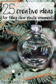 30 Creative Ideas For Filling Clear Plastic Ornaments Clear 21 Homemade Christmas Ornaments Using Clear Ball Ornaments Clear Easy Ways To Decorate Clear Plastic Ornaments For Christmas Diy Ornaments Create A Winter Scene With Plastic… Clear Plastic Ornaments, Clear Christmas Ornaments, Christmas Globes, Christmas Ornaments To Make, How To Make Ornaments, Kids Christmas, Christmas Bulbs, Homemade Christmas, Christmas Crafts For Adults