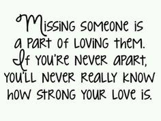missing someone part of loving them